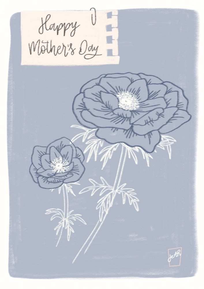 Mothers Day Poppies Blue