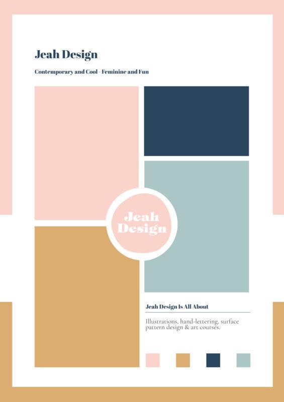 Media kit for Jeah Design
