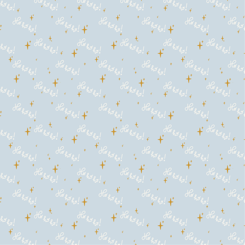 Surface pattern design of tiny ochre stars and white