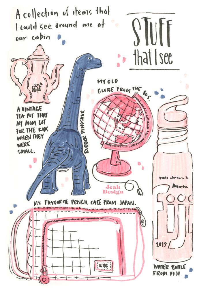 Brush pen illustration of